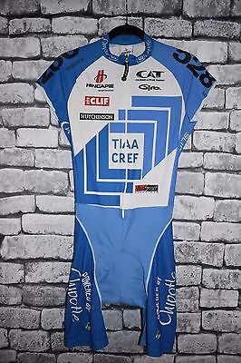 Hincapie Tiaa Cref Team Cycling Skinsuit Long Sleeve Size Medium  Arms Cut Off