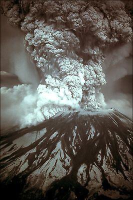 Poster  Many Sizes  Eruption Of Eyjafjallajokull Volcano  Iceland
