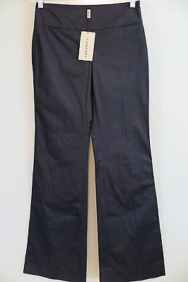 NWT Burberry Black Lockwood Cotton Blend Side-Zip Flare Pants Size 4 MSRP $295