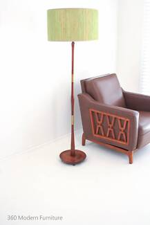 Mid Century Teak Floor Lamp Lighting Retro Vintage Standard Light