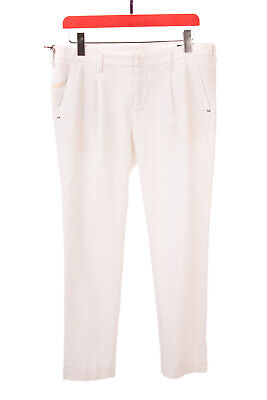 RRP €125 ENTRE AMIS COLLECTION Chino Trousers Size 34 Stretch Pleated Textured