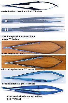 Titanium Plastic Surgery Instruments 7 Inches Item Total 7 Piece