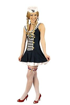 Kostüm sexy Matrosin GoGo Sailor Girl Matrosinkostüm Gr.34-46 Karneval (Sailor Kostüme Sexy)