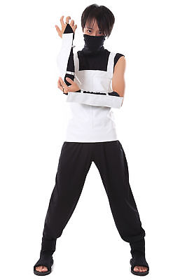 Naruto Shippuden Cosplay Costume Hatake Kakashi Anbu Black Ops Outfit V1 - Naruto Black Ops Kostüm
