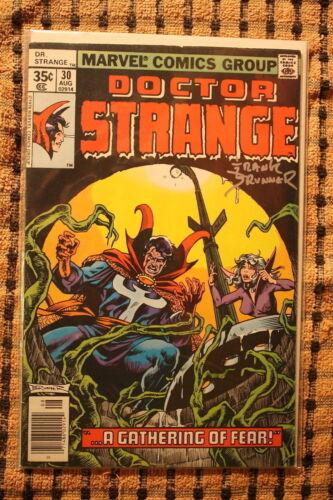 Doctor Strange 30 1978 show signed Frank Brunner