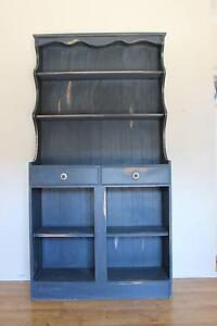 Display hutch - repurposed - blue - chalk paint Glossodia Hawkesbury Area Preview