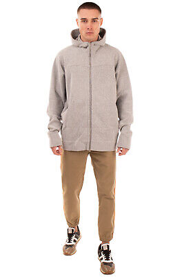 RRP €370 ROBERTO COLLINA Knitted Boucle Jacket Size 54 XXL Hooded Made in Italy