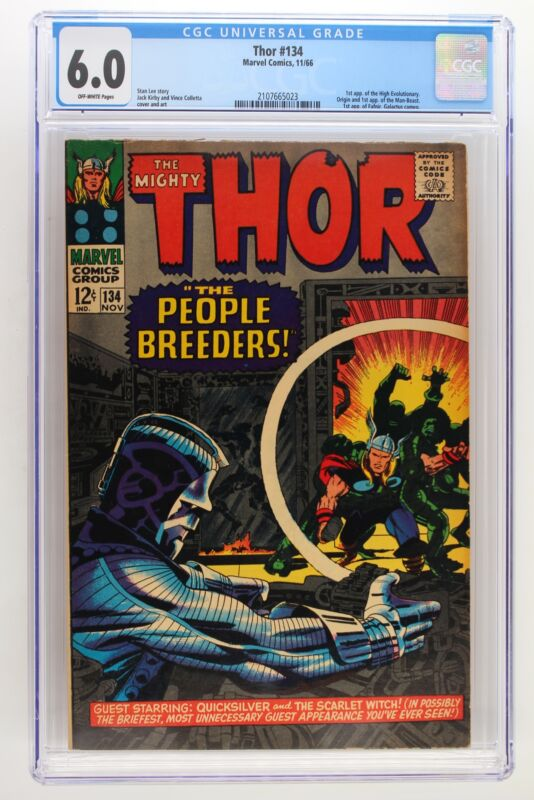 Thor #134 - Marvel 1966 CGC 6.0 1st Appearance of the High Evolutionary. Origin