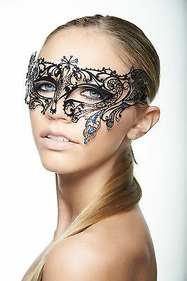 Elegant Laser Cut Masquerade Mask with Rhinestones Venetian Mask Mardi Gras NEW!