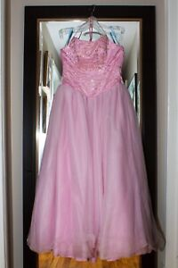 Pink and blue prom dresses