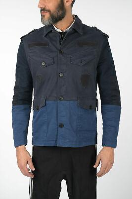 NEIL BARRETT men Jackets Blue Size M Slim Fit Bush Jacket Blue M (Standard Size)