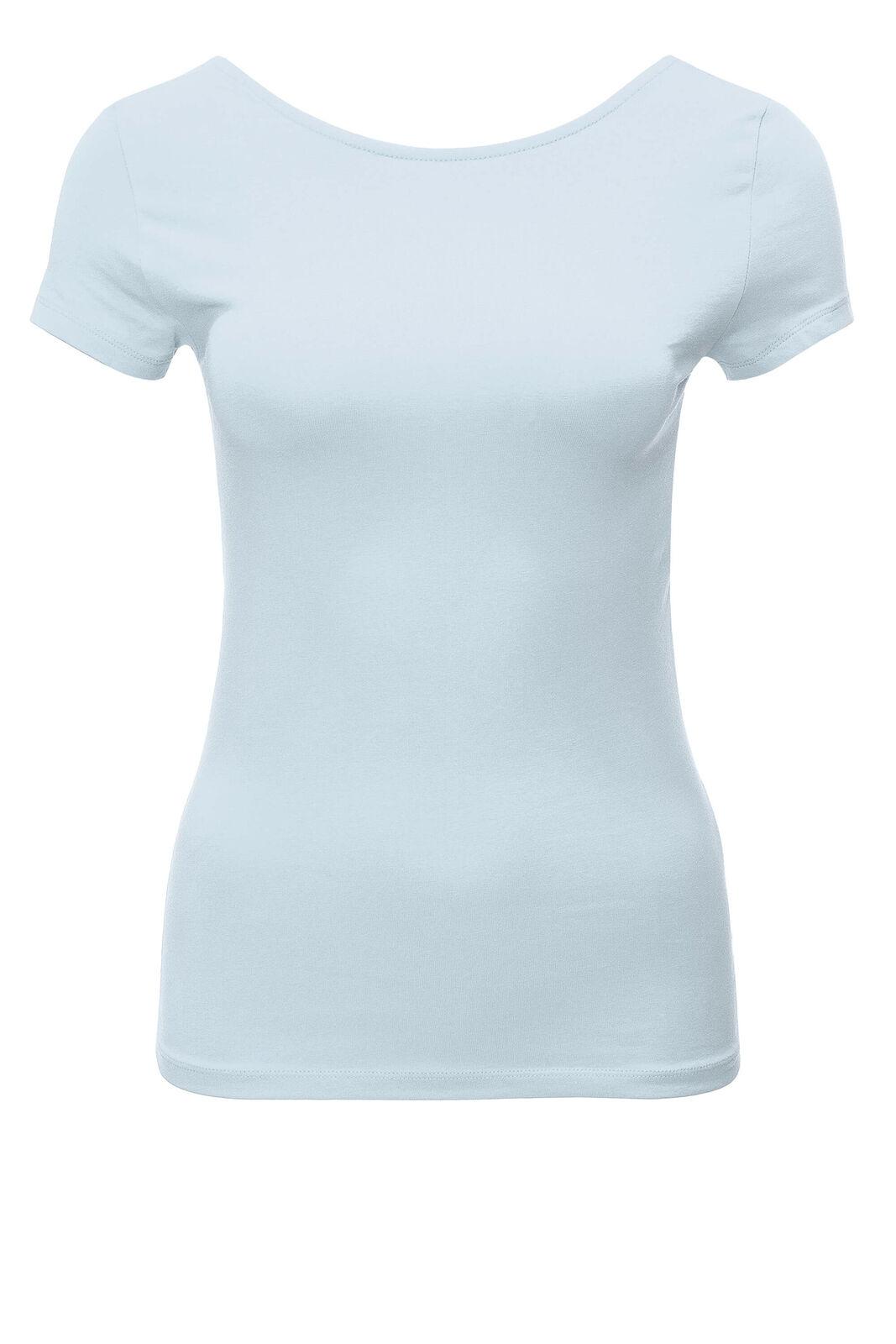 Only Damen T-Shirt Kurzarm Shirt Basic Lace Up Damenshirt Top Damentop SALE