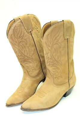 Acme Womens Size 9 M Leather Tall Pull On Pointed Toe Cowboy Boots 10712