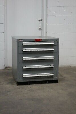 Used Lyon 5 Drawer Cabinet 33 Inch Industrial Tool Storage 1761 Vidmar