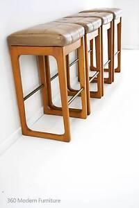 Mid Century x 4 Easden Module Bar Stools Sleigh Leg Retro Vintag Narre Warren Casey Area Preview