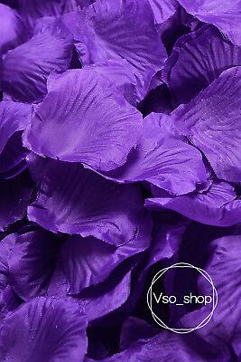 500-10000pcs Silk Rose Petals Purple Artificial Flowers Wedding Party Decor (Purple Silk Rose Petals)