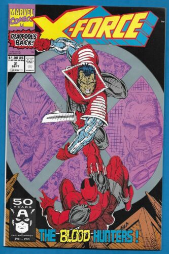 Comic Book X-FORCE #2  2nd Appearance of DEADPOOL Marvel 1991 - 2 COPIES!