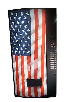 Vendo Univendor 2 Multi Price Soda Vending Machine Bottlescans Usa Flag Graphic