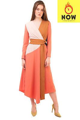 RRP €2010 ROKSANDA Midi A-Line Dress Size 8 / S Wrap Front Cut Out Back V Neck