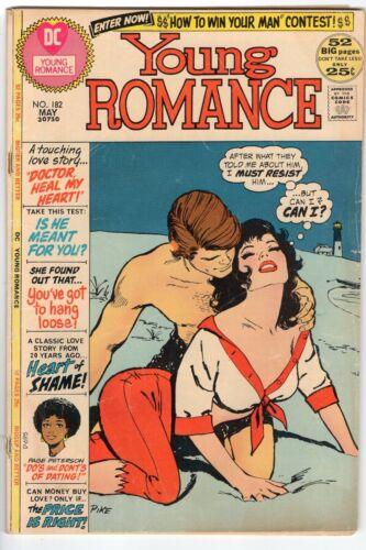 YOUNG ROMANCE #182 DC COMICS ROMANCE 1972 GD