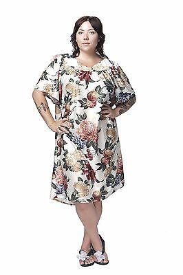 Floral Shift (MuMu House Shift Dress Duster Floral Print S M L XL 1X 2X 3X 4X 5X 6X Polyester)