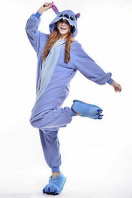 Blue Stitch Women Men Adult Pajamas Animal Cosplay Costumes Kigurumi Sleepwear - Men Animal Costumes