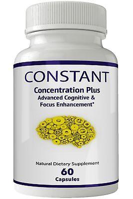 Constant Concentration Plus Supplement - Advanced IQ Brain Supplement - Mind ... 1