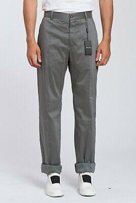 Recent 870$ GIORGIO ARMANI Black Label Pant Trousers Gray Lux Cotton 38 US 54 EU ()