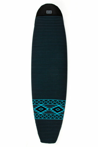 """Creatures Sox Charcoal Mint Surfboard Cover Longboard Surfing Surf Boardsock 9"""""""