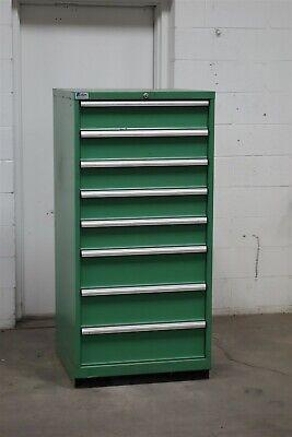 Used Lista 8 Drawer Green Cabinet Industrial Tool Storage 2137 Vidmar