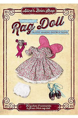 Rag Doll Outfit Sewing Making Kit - Fairy Outfit To Fit 54cm Rag Doll