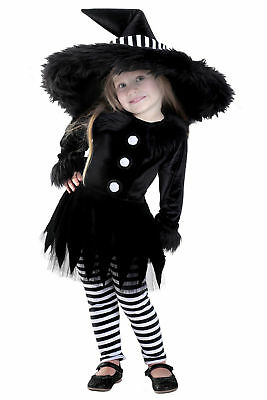Deluxe Premium Emily the Witch Black White Infant Baby Child Toddler Costume NEW - Toddler Witch Costume