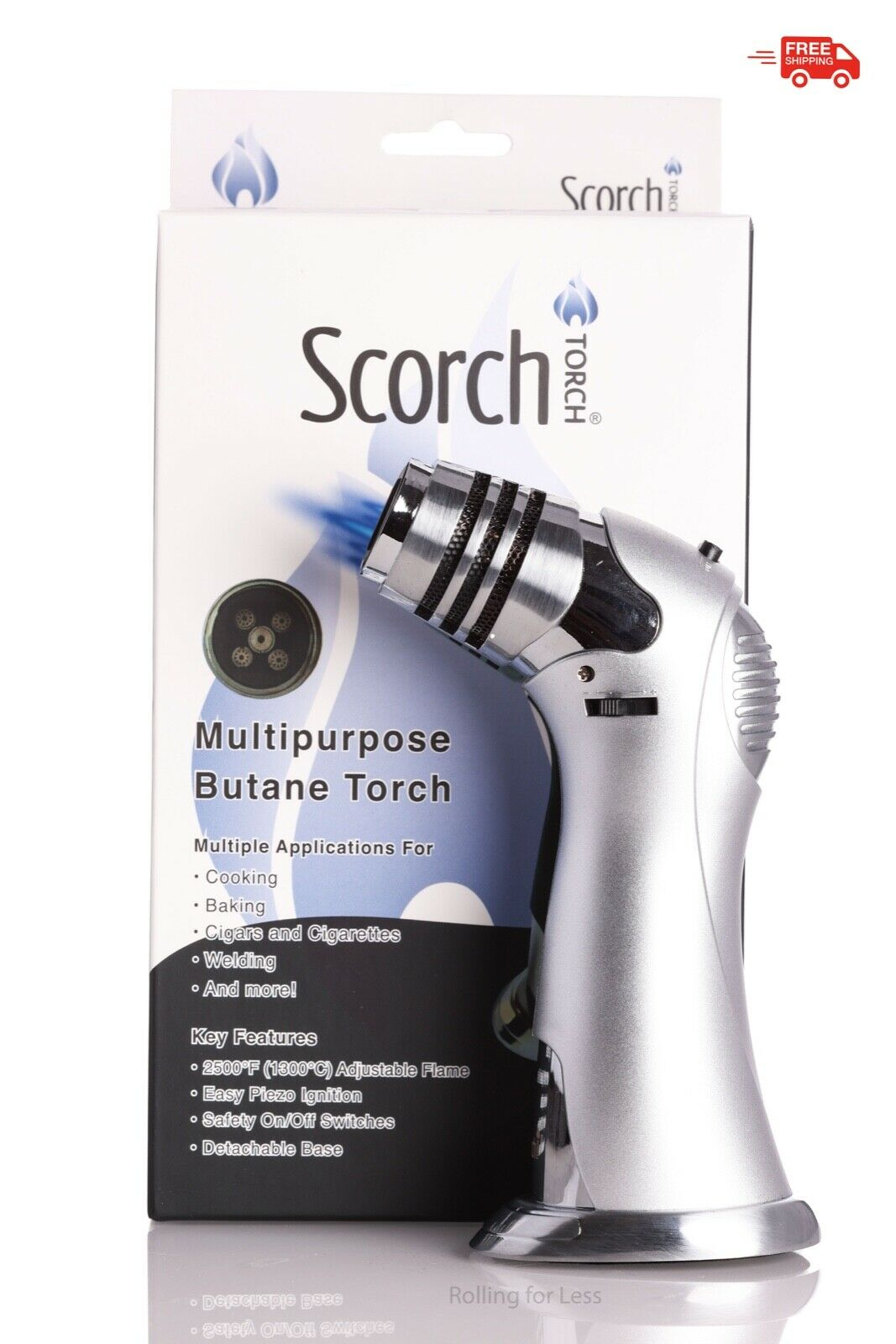 Scorch Torch Mega With 5 Flame Butane Refillable Torch Light