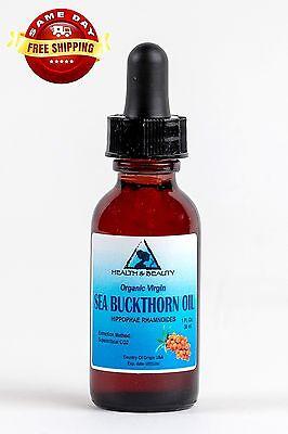 SEA BUCKTHORN OIL UNREFINED ORGANIC VIRGIN CO2 EXTRACTED PURE GLASS DROPPER 1 (Company Sea Glass)