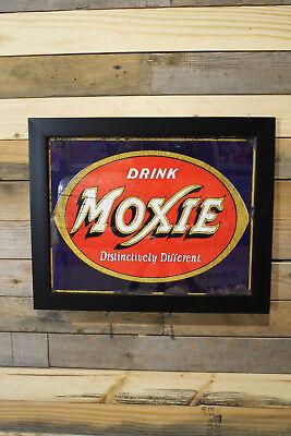 Restomod Of Old Moxie Cola Sign Framed Fine Art Print 11X14 Sale Free Shpg