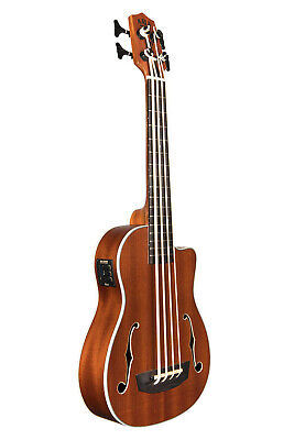 Used, Kala UBASSJYMNFS Journeyman Acoustic Electric U-BASS Ukulele w/ EQ & Gig Bag for sale  New Berlin