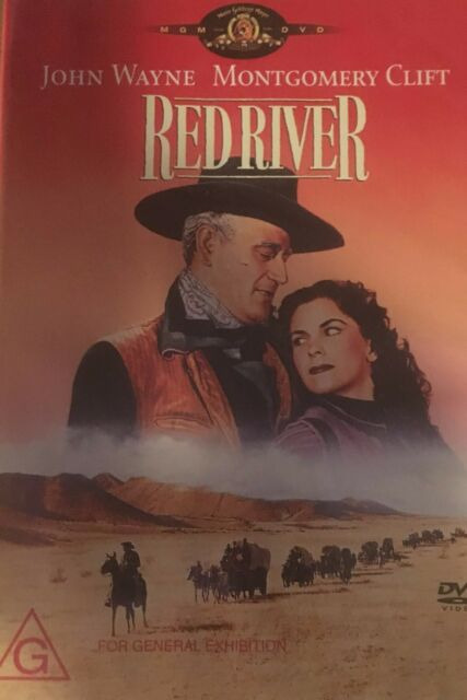 Red River John Wayne Joanne Dru Montgomery Clift Region 4  DVD in VGC