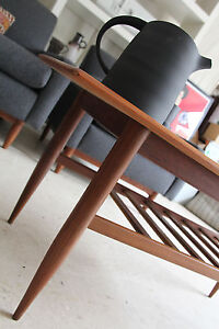 Danish Teak Coffee Table/TV Stand w/Magazine Rack - Retro/Eames/Parker era