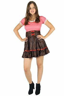 sexy Cowgirl Karneval Fasching Motto Party Kostüm für Damen Gr. S - - Rote Cowgirl Kostüm