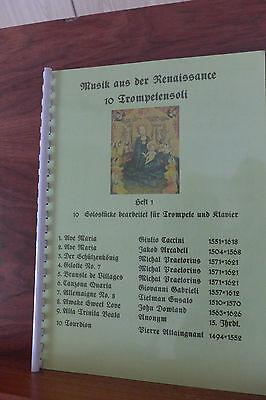Renaissance Musik für Trompete und Klavier CD+Noten 10 Trompetensoli