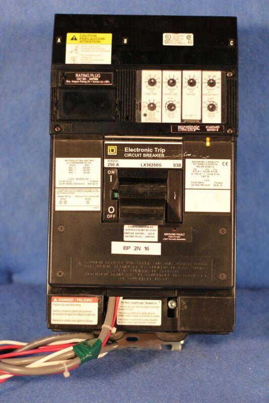 Square D LX36250G 250A ARP080 Sensor S3B 3 Pole 600V 1 Year Warranty