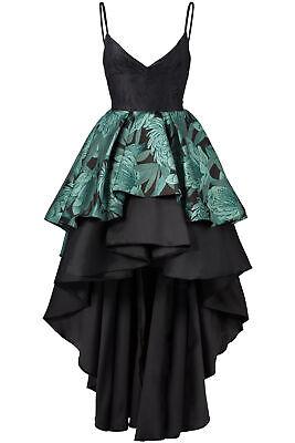Christian Pellizzari Womens Dress Black Size 4 (IT 40) High-Low Gown $1135- #069