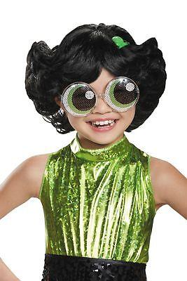 Powerpuff Girls Wigs (Buttercup CHILD Wig Costume Accessory NEW Powerpuff)