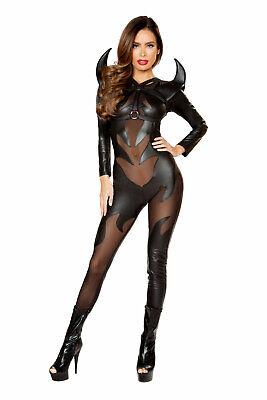 Sexy Women's Demon Evil Costume Evil Devil Catsuit Cosplay Halloween Costume Devil-catsuit