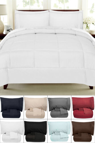 7 Piece Bed-In-A-Bag Down Alternative Comforter & Sheet Set – Lg Color Selection Bed-in-a-Bag