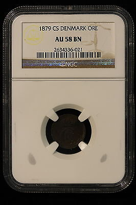 Click now to see the BUY IT NOW Price! 1879 CS. DENMARK. ORE. NGC GRADED AU 58 BN