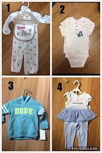 New with tags Baby clothing (boys and girls)