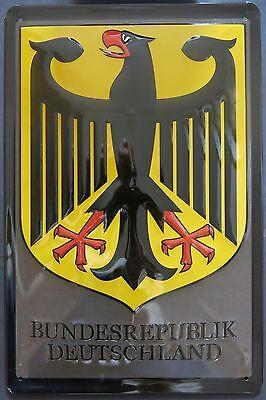 BUNDESREPUBLIK DEUTSCHLAND , Bundesadler , BLECHSCHILD