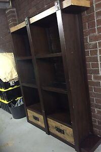 Room divider shelf unit with down lights Carnegie Glen Eira Area Preview