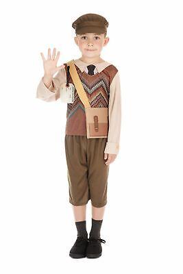 World War 2 Schoolboy Costume Kids school Book Week 1940s Fancy Dress outfit